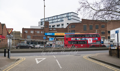 Jan' 14th 2019.  Woolwich high street from Glass yard
