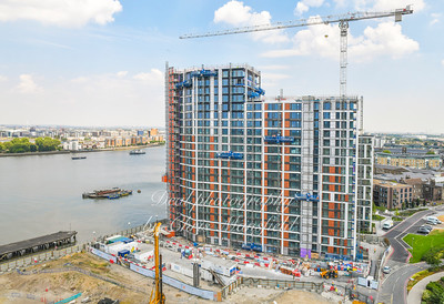 July 26th 2018 . Riverside apartments nearly finished