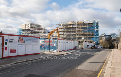 Feb' 1st 2018.  Vincent road and new school development