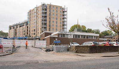 Oct' 4th 2017.   Simmons road.  rebuilding on the old Connaught estate site and the Baptist church which is soon to be demolished