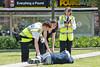 June 6th 2014.. Council wardens attend a male needing assistance in Gordon square