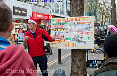 Dec'19th 2015. Street preacher onPowis street