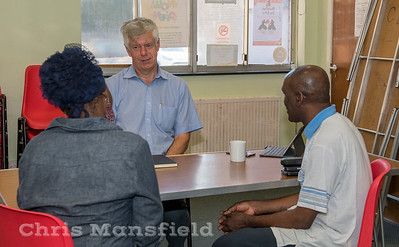 Sept' 1st 2018 Deputy leader of the Royal borough of Greenwich Councillor David Gardner  holds a drop in session at the Woolwich common community centre to discuss concerns of residents living in his ward