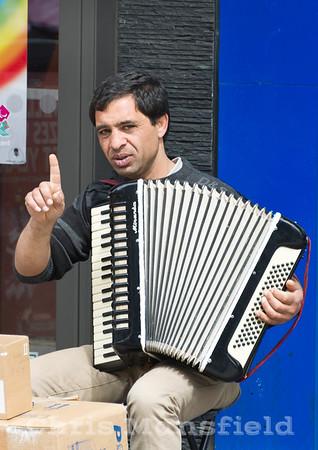 April 30th 2012.. Busker on Powis street