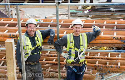 Jan' 9th 2012 .. Tesco site workers