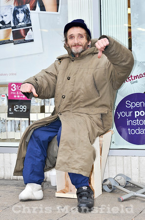 Dec' 8th 2011 .. Colin Greenway ,  one of the local rough sleepers , sadly murdered