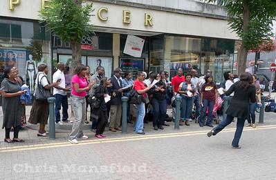 Aug' 20th 2011.. Religious group on Powis street