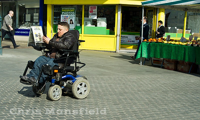 March 21st 2012.. Wheelchair user on Beresford square