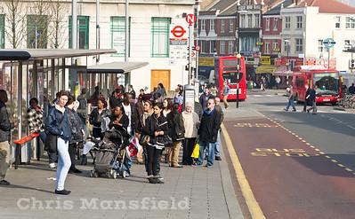 March 1st 2012.. Bus queue