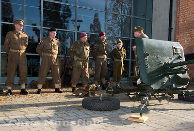 WW2 Re enactors from the Firepower museum living history group