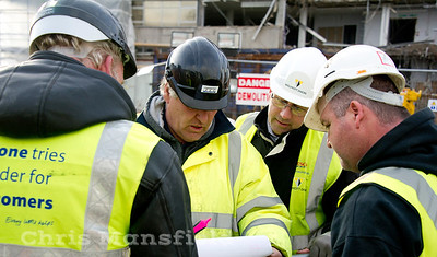 Dec 5th 2011..  Safety drill on the Crown buildings demolition site