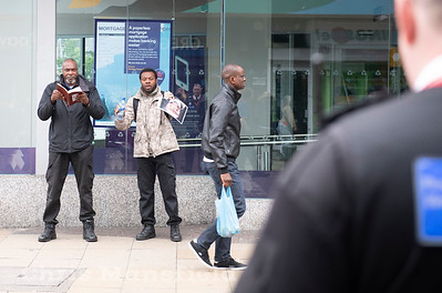 June 15th 2019 ..   Preachers are a common sight in Woolwich town centre but this pair were in a league of their own ...  They shouted the most hateful things I have ever heard while waving their copies of the Bible ... Women seemed to be the main target of their hate messages .. Any woman that they deemed to be inappropriately dressed were screamed at and told they were going to burn in hell .... As expected they attracted quite a crowd of people who were annoyed and insulted by their ranting .. Police had to be called and they were ordered out of the area for their own safety ....  I have to admit it was my first experience of hate preaching