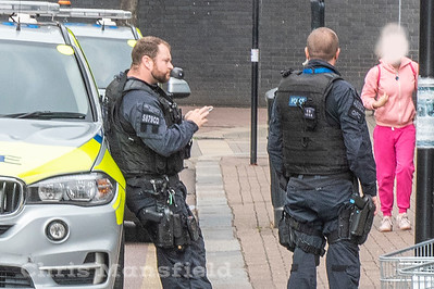 Aug' 10th 2019.  Armed Police dealing with a call to Thomas street