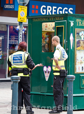 July 12th 2011..  Council wardens on Powis street