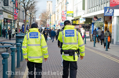 Feb 23rd 2012.. Council wardens on Powis st