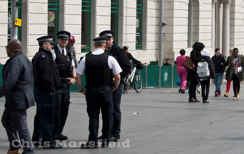 May 2nd 2015. Local police in General Gordon square