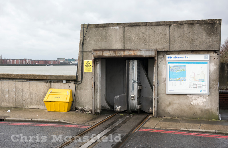 Jan' 9th 2017.  Flood gate on the north side ferry approach