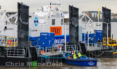 Feb' 6th 2019..  Sadly the ferries are once again out of service today due to a fault with the pontoon fenders