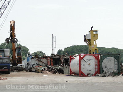 July 25th 2019.  Woolwich ferry John Burns being dismantled