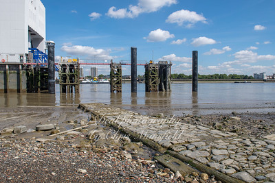 Aug' 1st 2019 .  Old causeway at Woolwich