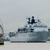 May 28th 2014 HMS Bulwark comes to Greenwich as part of the commemorative events marking the 350th anniversary of the formation of the Royal Marines