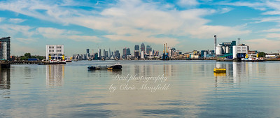 July 18th 2016 Panotamic view from Royal arsenal pier