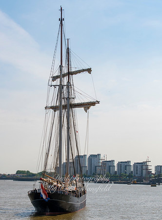 July 4th 2018.  Tall ship at Woolwich
