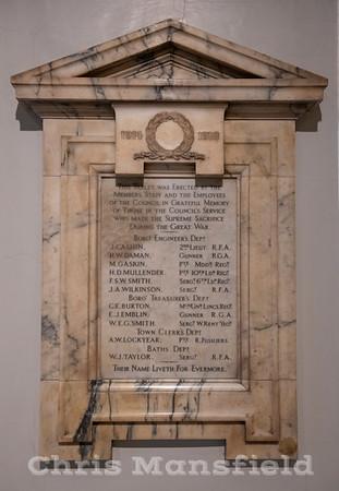 Nov' 17th 2018 .. Town Hall war memorial