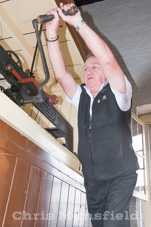 Oct' 19th 2017 .   Steve Scrivener winding the town hall clock