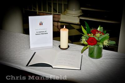 Dec' 9th 2013 . Condolence book