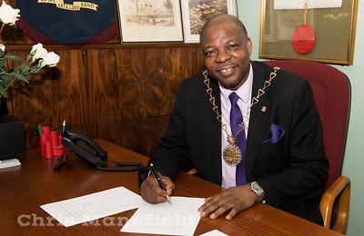 Oct' 26th 2016.  Mayor Olu Babatola in the Mayors office