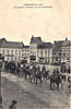 BELGIUM - POPERINGHE - FRENCH CAVALRY IN THE GRAND PLACE - This picture must have been taken early in the War as the cavalry still wear their ceremonial helmets.