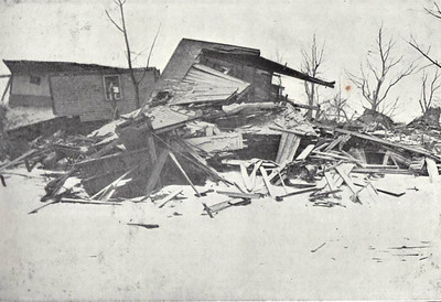 The houses in Veith Street felt the full force of the explosion and very little was left standing, as can be seen here.