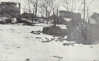 Devastation in the district north of Albert Street, a little further from the centre of the explosion but nonetheless largely destroyed.