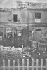 APRIL 25TH, 1916 - LOWESTOFT - Cottages damaged in Clemence Street, which lies just north of the harbour and about 100 yards from the railway line.