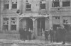 APRIL 25TH, 1916 - LOWESTOFT - Damage to the houses on the south side of London Road South, barely a window intact, most of this damage the effect of shock waves I imagine.