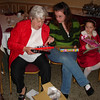 NIKKI'S DAUGHTER,COLLEEN,HELPS GREAT GRANDMA...