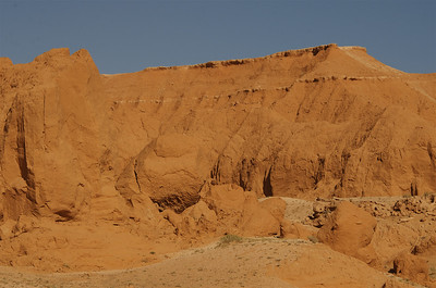 Flaming Cliffs of the Gobi Desert.
