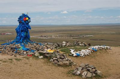 Ovoo overlooking the Erdene Zuu Monastery
