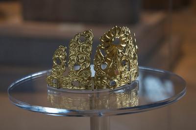 Bilge-khagan's crown found at the Khosho Tsaidam Turkic monument site.