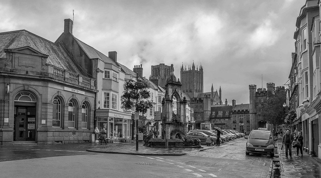 High Street, Wells, Somerset, England