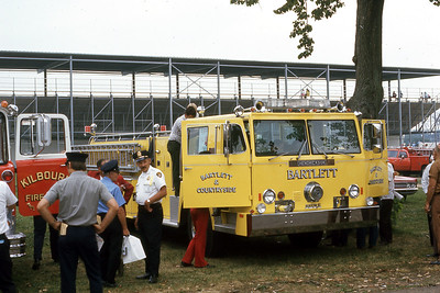 BARTLETT & COUNTRYSIDE FPD  ENGINE  HENDRICKSON - HOWE   AT 1973 MONROE FIRE SCHOOL   JDS PHOTO