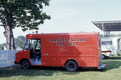 1975  MONROE FIRE SCHOOL  ARGYLE - ADAMS FD WI  RESCUE  CHEVY STEPVAN   JDS PHOTO