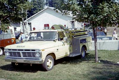1975  MONROE FIRE SCHOOL  DEMO MINI PUMPER  FORD F - JOHN BEAN   JDS PHOTO