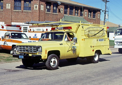 1978  MONROE FIRE SCHOOL  DANE COUNTY SHERRIFF  CHEVY  4X4    JDS PHOTO-