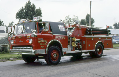 DURAND FPD  ENGINE 604  FORD C - ALEXIS   1979  MONROE FIRE SCHOOL