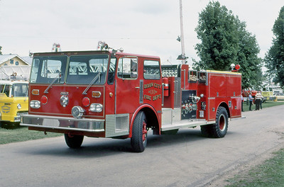 DIXON CITY FD  ENGINE 1  1981  DUPLEX - DARLEY   1500-750    AT 1981 MONROE FIRE SCHOOL