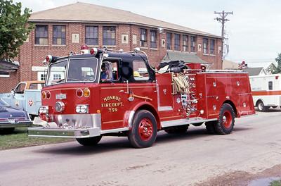 1981  MONROE FIRE SCHOOL  MONROE FD WI  ENGINE 759  PIRSCH   ON THE MAIN ROAD   JDS PHOTO