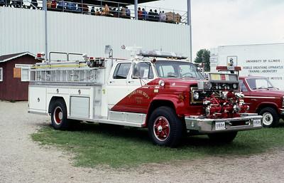 1981  MONROE FIRE SCHOOL  ADAMS FD WI  ENGINE 39  CHEVY - FMS   JDS PHOTO
