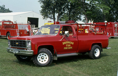 BROADHEAD FD WI  BRUSH 728  CHEVY - MONROE   AT 1982 MONROE FIRE SCHOOL